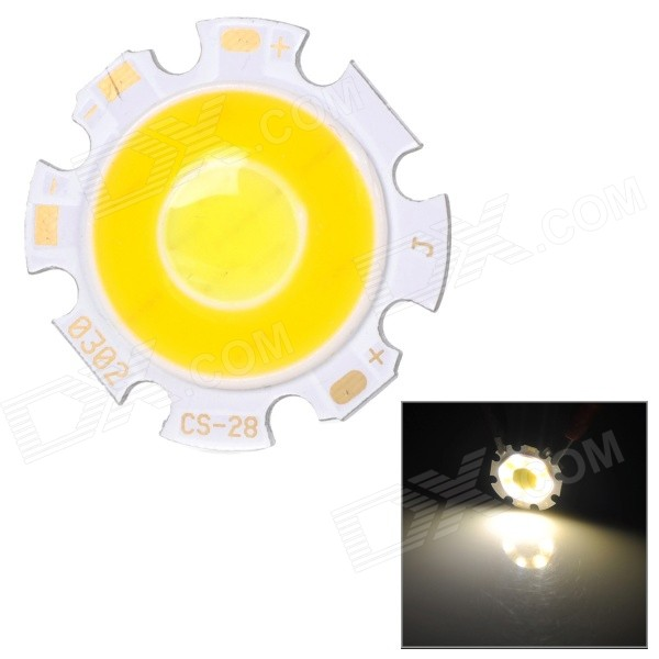 JRLED 3W 300lm 6500K White + 3200K Warm White Light Emitter Board - White + Yellow (DC 9~11V)