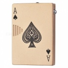 Creative Poker Style Windproof Zinc Alloy Gas Butane Lighter - Light Golden