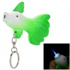 Creative Cabbage Fish Style Butane Gas Lighter - Green + White