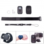"Fat Cat Waterproof 1"" LCD Wi-Fi Remote Controller Set for GoPro Hero 4 - Black + Grey"