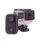 "Fat Cat impermeable 1 ""LCD Wi-Fi Remote Controller Set para GoPro héroe 4 - Negro + Gris"