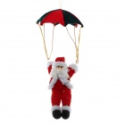 Cute Paratrooper Santa Claus Style Christmas Tree Ornament - Red + White