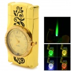 Creative Wrist Watch Pattern Zinc Alloy Butane Gas Lighter - Gold