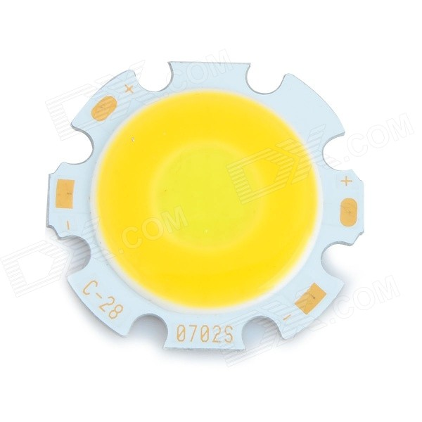 JR-LED 7W 700lm 6500K White / 3200K Warm White COB Light Plate (28mm / DC 22~24V)