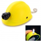 Safety Helmet Style Butane Gas Lighter - Yellow