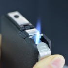 Automatic Cigarette Case Butane Gas Lighter - Black