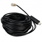 TS-E1415 Water-resistant USB 2.0 CMOS 4-LED Illuminated Snake Camera Endoscope - Black + Gold (15M)