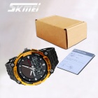 SKMEI 1049 50m Waterproof Solar Dual-Movement Double Time Shows Men Sport Watch - Black + Gold