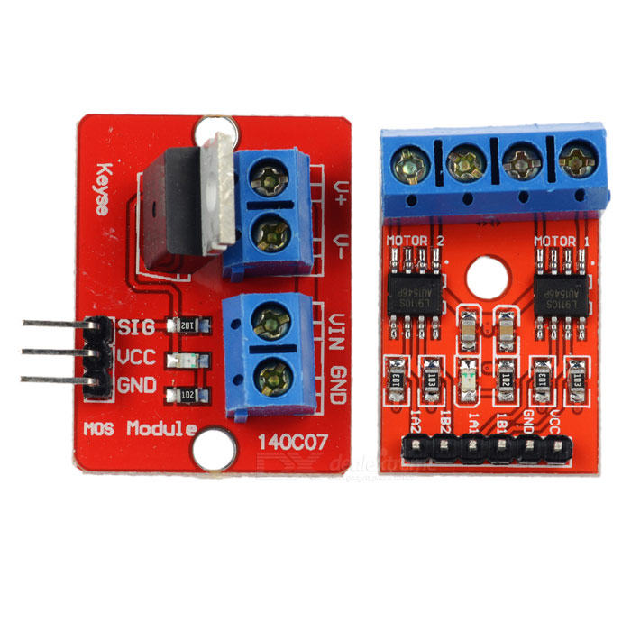 L9110S DC Motor / Stepper Motor Drive Board + IRF520 Driver Module for Arduino - Red + Blue l9110s dc motor stepper motor drive board irf520 driver module for arduino red blue