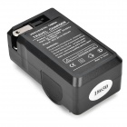 2-in-1 US Plugs 2-Slot 18650 Li-ion Battery Charger w/ EU Plug Adapter - Black