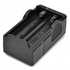 2-in-1 US Plugs 2-Slot 18650 Li-ion Battery Charger w/ UK Plug Adapter - Black