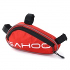 SAHOO 21255 Bike Mounted Bag + Inflator Pump + Tire Repair Toolkit + Multi-Functional Tool Set - Red