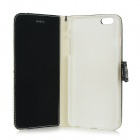 Stylish Protetive Flip Open PU Leather Case for IPHONE 6 PLUS - White + Black