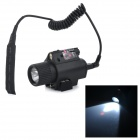 HB6012 5mW 650nm 1-Mode Red Laser Gun Sight w / LED-Taschenlampe - Schwarz (2 x CR123A)