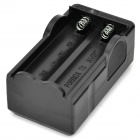 2-in-1 US Plugs 2-Slot 18650 Li-ion Battery Charger w/ 3-Flat-Pin Plug Adapter - Black
