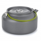 DS-12 1.2L Portable Outdoor Camping Aluminum Alloy Coffeepot Teapot Kettle - Black Grey