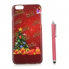 Christmas Tree / Gift Patterned PC Back Case Cover w/ Stylus Pen for IPHONE 6 PLUS - Red