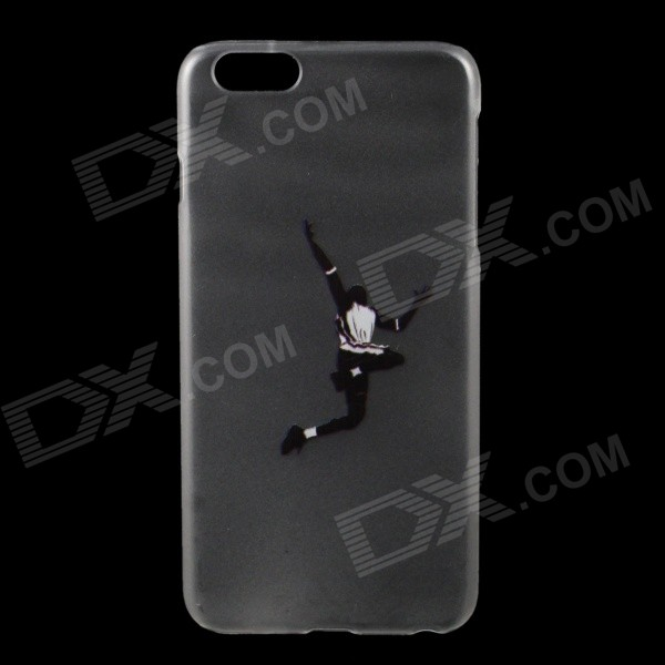 Man Scoot at the Basket Pattern Protective PC BacK Case for IPHONE 6 PLUS - Transparent + Black iface mall for iphone 6 plus 6s plus glossy pc non slip tpu shell case black