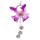Dual Bells Pendant Decorator for Christmas Tree - Pink + Silver