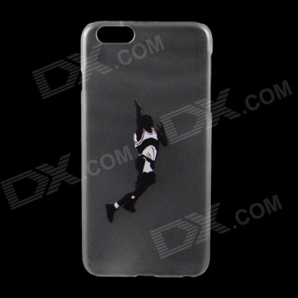 Basketball Pattern PC Protection Back Case for IPHONE 6 PLUS 5.5 - Black + White iface mall for iphone 6 plus 6s plus glossy pc non slip tpu shell case black