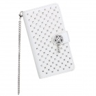 Stylish Protective Flip-Open PU Leather + PC Case w/ Stand for LG Optimus G2 - White