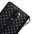 Stylish Protective Flip-Open PU Leather + PC Case w/ Stand for LG Optimus G2 - Black