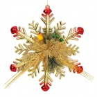 Christmas Pine Needle Snowflake Pendant Decorator for Christmas Tree - Red + Golden + Green