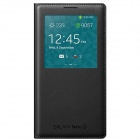Genuine Samsung View Flip-open PU Case w/ Auto Sleep for Samsung Galaxy Note 3 - Black