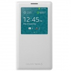 Original Samsung Ansicht Flip-Open PU Fall w / Auto-Sleep für Samsung Galaxy Note 3 - White