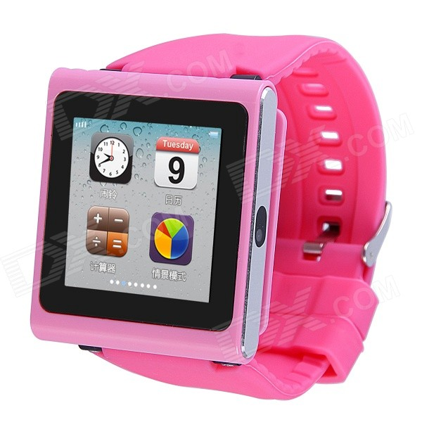 AOLUGUYA DQ-211 GSM Watch Phone w/ 2.0MP Camera, BT, Anti-lost, Alarm, Browser, R/C Shutter - Pink