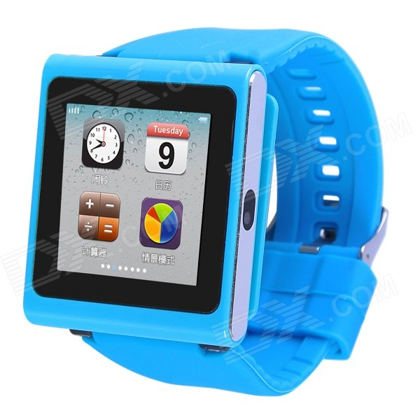 AOLUGUYA DQ-211 GSM Watch Phone w/ 2.0MP Camera, BT, Anti-lost, Alarm, Browser, R/C Shutter - Blue