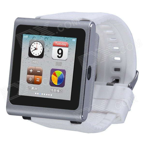 AOLUGUYA DQ-211 GSM Watch Phone w/ 2.0MP Camera, BT, Anti-lost, Alarm, Browser, R/C Shutter - Silver