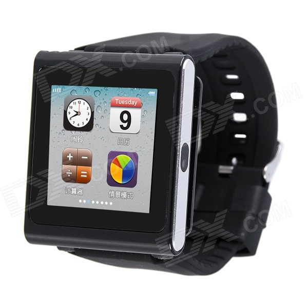 AOLUGUYA DQ-211 GSM Watch Phone w/ 2.0MP Camera, BT, Anti-lost, Alarm, Browser, R/C Shutter - Black
