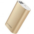 Teclast Genuine 5V 10000mAh Dual USB Li-ion Battery Power Bank w/ LED Indicator - Golden