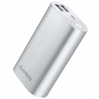 Teclast Genuine 5V 10000mAh Dual USB Li-ion Battery Power Bank w/ LED Indicator - Silver