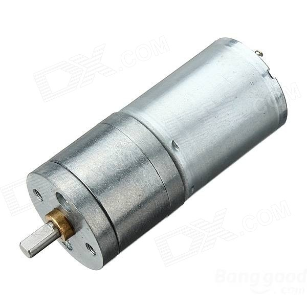 3V 50RPM Large Torque Micro DC Gear Motor - Silver 3v 6v dc gear motor with cable large torque motor 2pcs