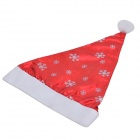 Stylish Snowflake Pattern Nonwovens + Pleuche Christmas Hat - Red + White