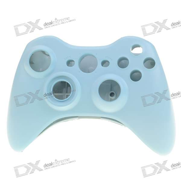 Replacement Housing Case with Screwdriver for Xbox 360 Wireless Controller (Light Blue)