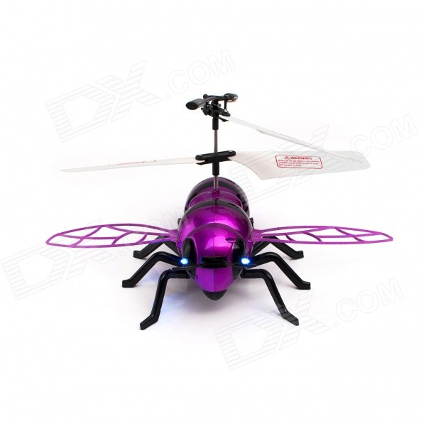 JUSTONE J063-2 2-CH Honeybee Style IR R/C Outdoor Helicopter - Purple Red + Black (6 x AA)