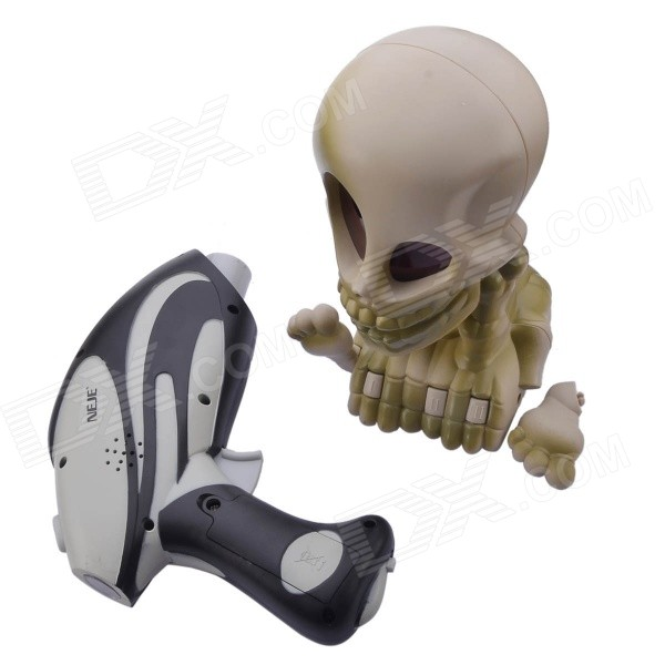 NEJE ST0008-1 Ghost Hunting Shooting Interactive Laser Gun Shooter Toy - Light Grey + Black