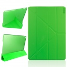 ENKAY Multi-folding Auto Sleep and Wake Up Designed Protective Case w/ Stand for IPAD AIR 2 - Green