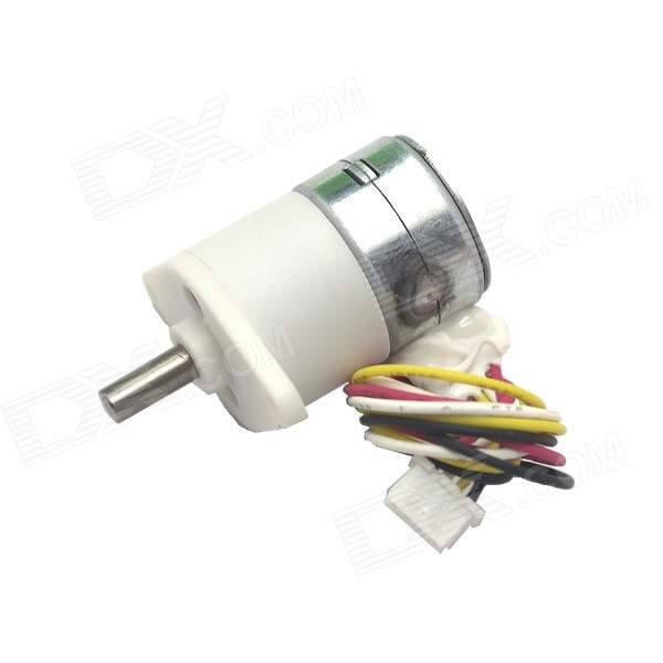 5V Micro Angle & High Torque 15MM 2-Phase 4-Wire Stepper Gear Motor - White  цена и фото