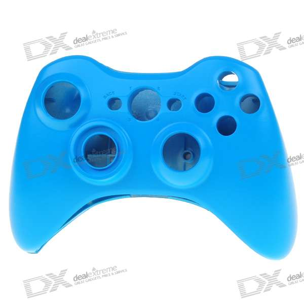 Replacement Housing Case with Screwdriver for Xbox 360 Wireless Controller (Blue)