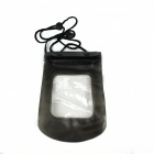 Waterproof Mobile Phone Protective PVC Bag w/ Strap - Black