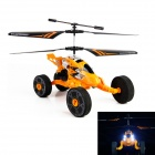HJ803 2.4GHz 2.5-Ch Flight / Taxiing Mode Remote Control Helicopter w/ Gyro / Lamp - Yellow + Black