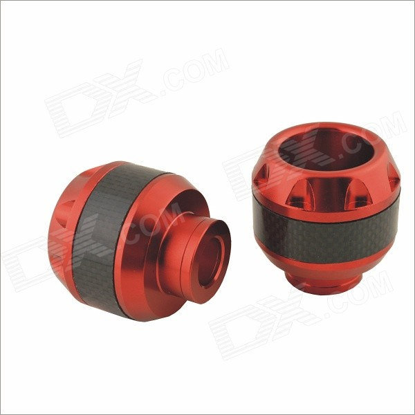 Motorcycle Modification Drop Protection Screw-on Front Fork Cup for Yamaha - Red (2pcs)