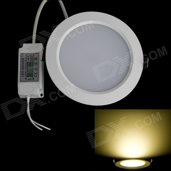 JIAWEN 12W 1080LM 3000K 24 x 5630 SMD LED Warm White Ceiling Light (AC 100-240V) kinfire circular 6w 420lm 6500k 30 x smd 3528 led white light ceiling lamp w driver ac 85 265v