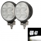 MZ 12W 900LM 6000K White Flood Beam LED Work Light Driving Lamp / Fog Light (Pair/ 10~30V)