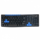 HK3800 Ultrathin Wireless Keyboard + 1000DPI Mouse Set - Black + Blue