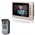 "XYY-V70B-ID 7"" TFT Color Video Door Phone System w/ Weatherproof Cover Camera / Night Vision - Gold"